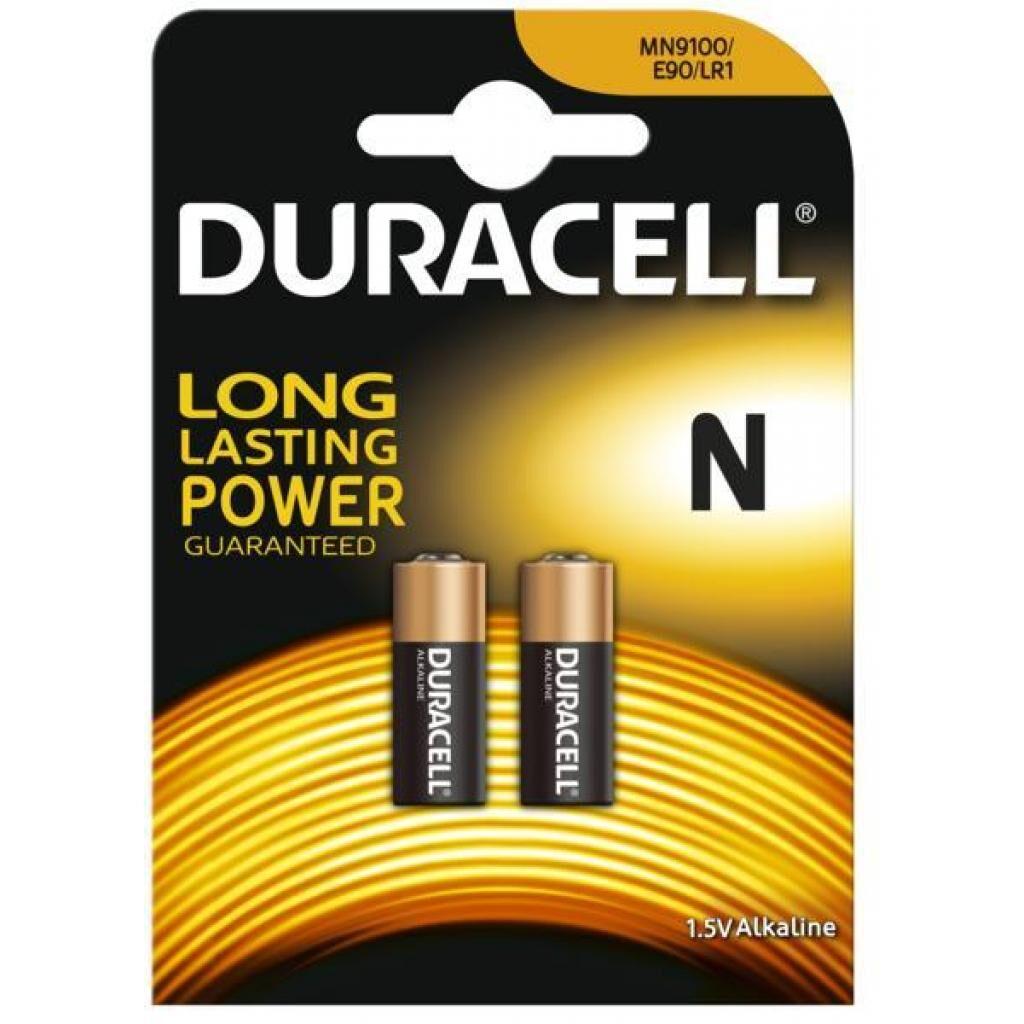 Батарейка Duracell N (MN9100 / LR1 / E90 / 4001 / AM5) Alkaline * 2 (5007465)