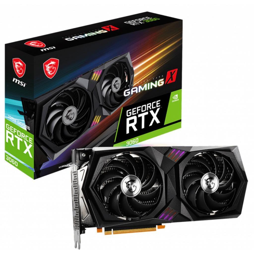 Видеокарта MSI GeForce RTX3060 12Gb GAMING X (RTX 3060 GAMING X 12G)