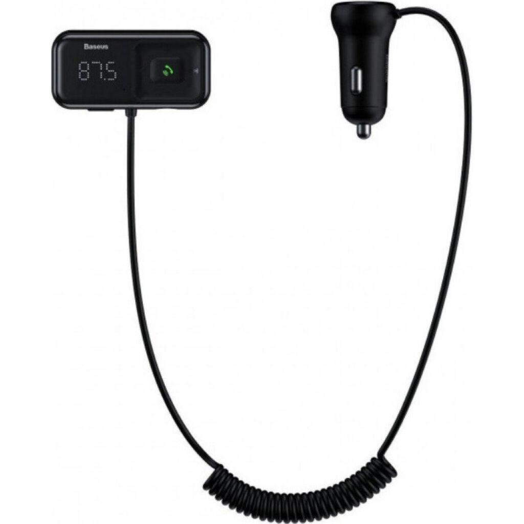 FM модулятор Baseus T typed S-16 MP3 Black (CCTM-E01)