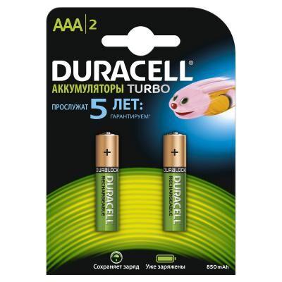Аккумулятор Duracell AAA TURBO HR03 850mAh * 2 (5000394001176)