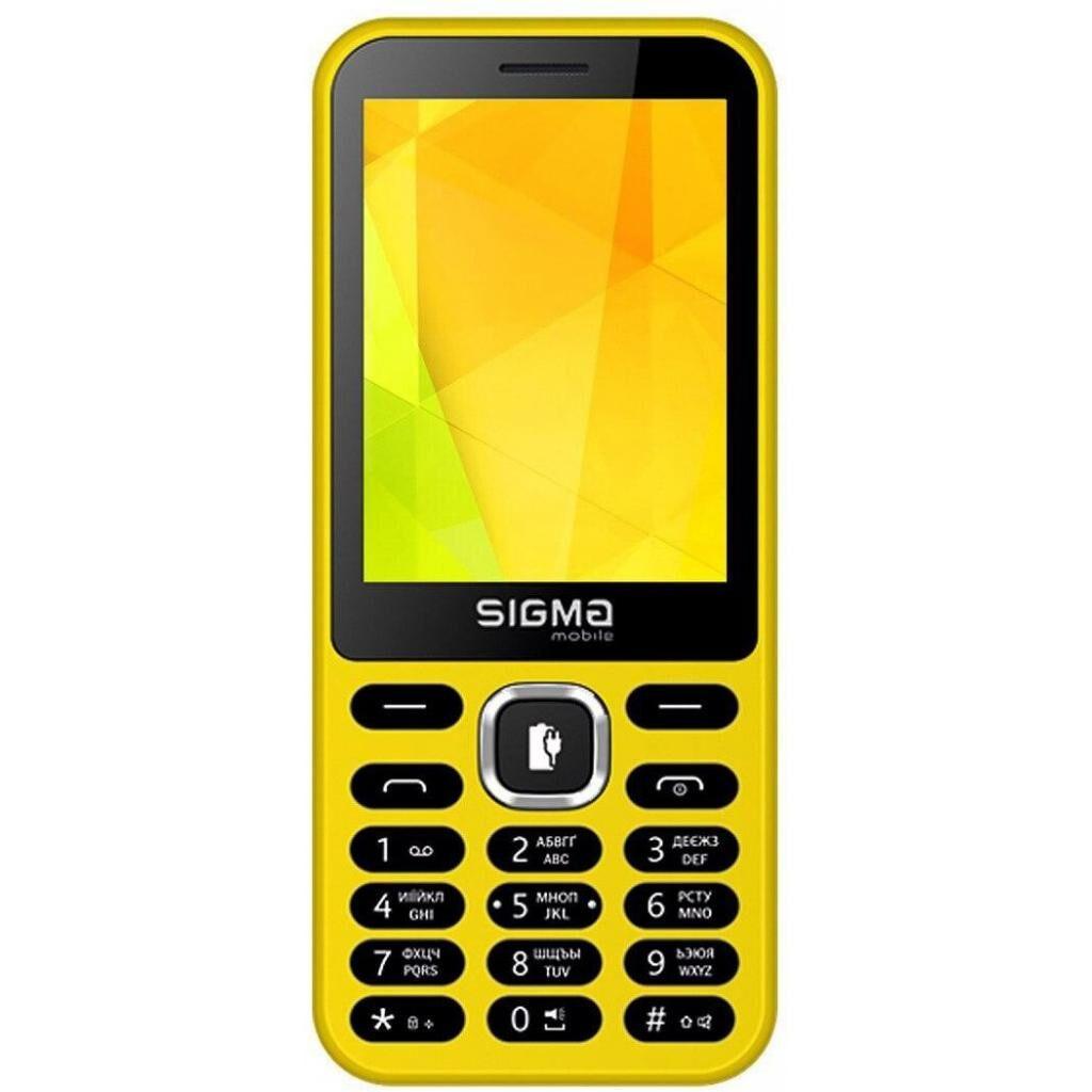 Мобильный телефон Sigma X-style 31 Power Yellow (4827798854761)