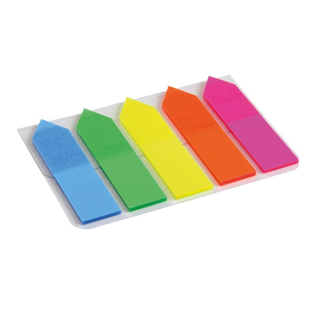 Стикер-закладка Axent Plastic bookmarks 5х12х50mm, 125шт, arrows, neon colors mix (2440-02-А)