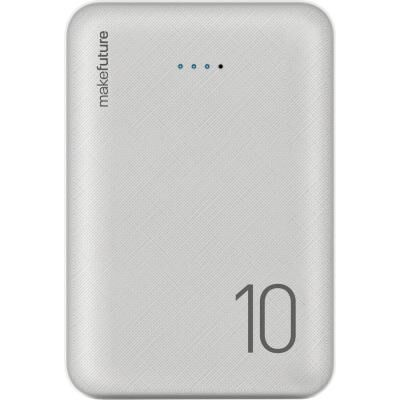 Батарея универсальная MakeFuture 10000 mAh Li-Pol 2*USB White (MPB-101WH)