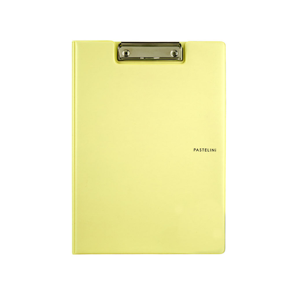 Клипборд-папка Axent Pastelini с металлическим клипом А4 винил Желтая (2514-26-A)