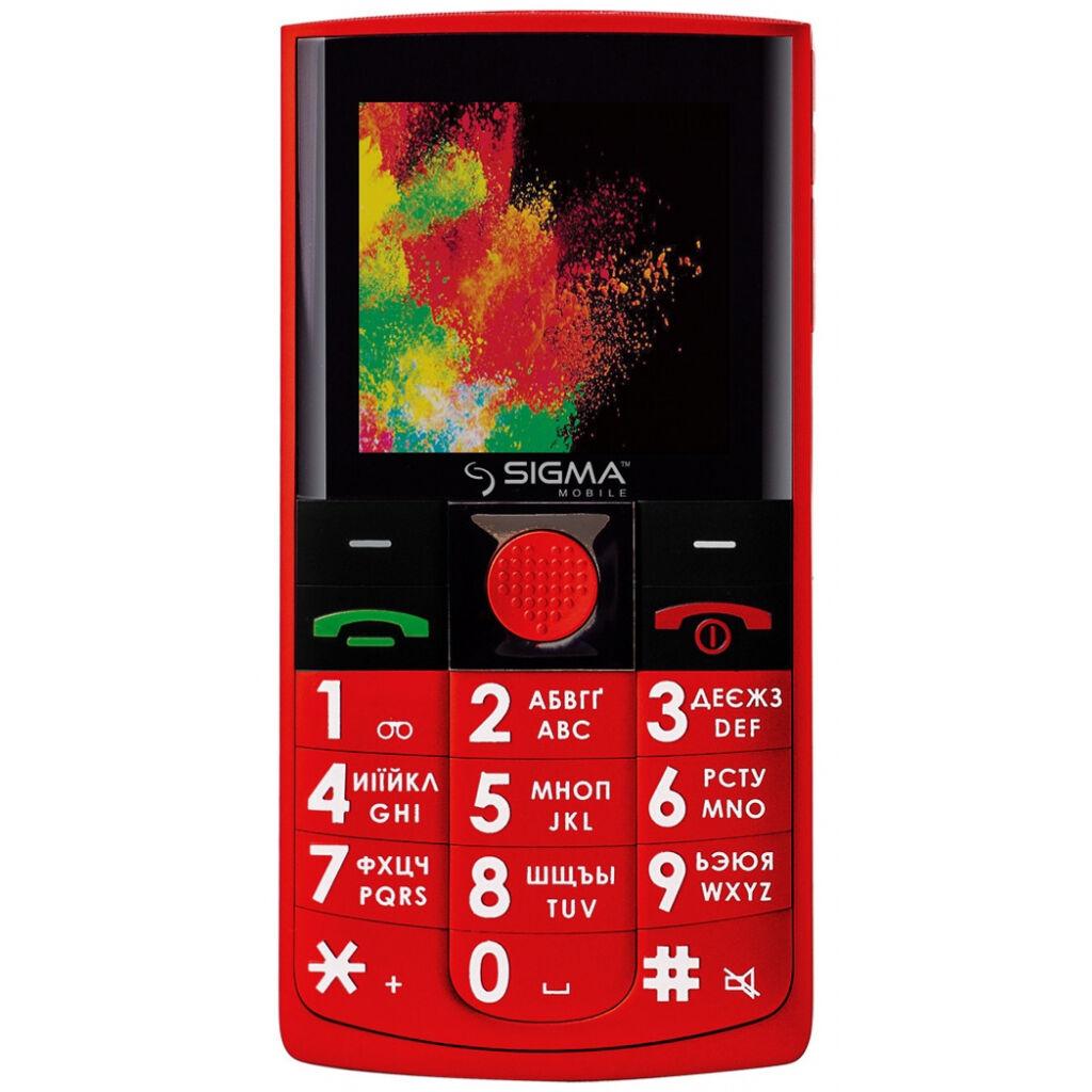 Мобильный телефон Sigma Comfort 50 Solo Red (4827798121528)