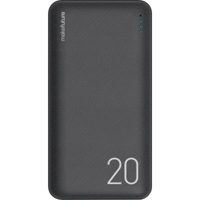 Батарея универсальная MakeFuture 20000 mAh Li-Pol Black (MPB-201BK)