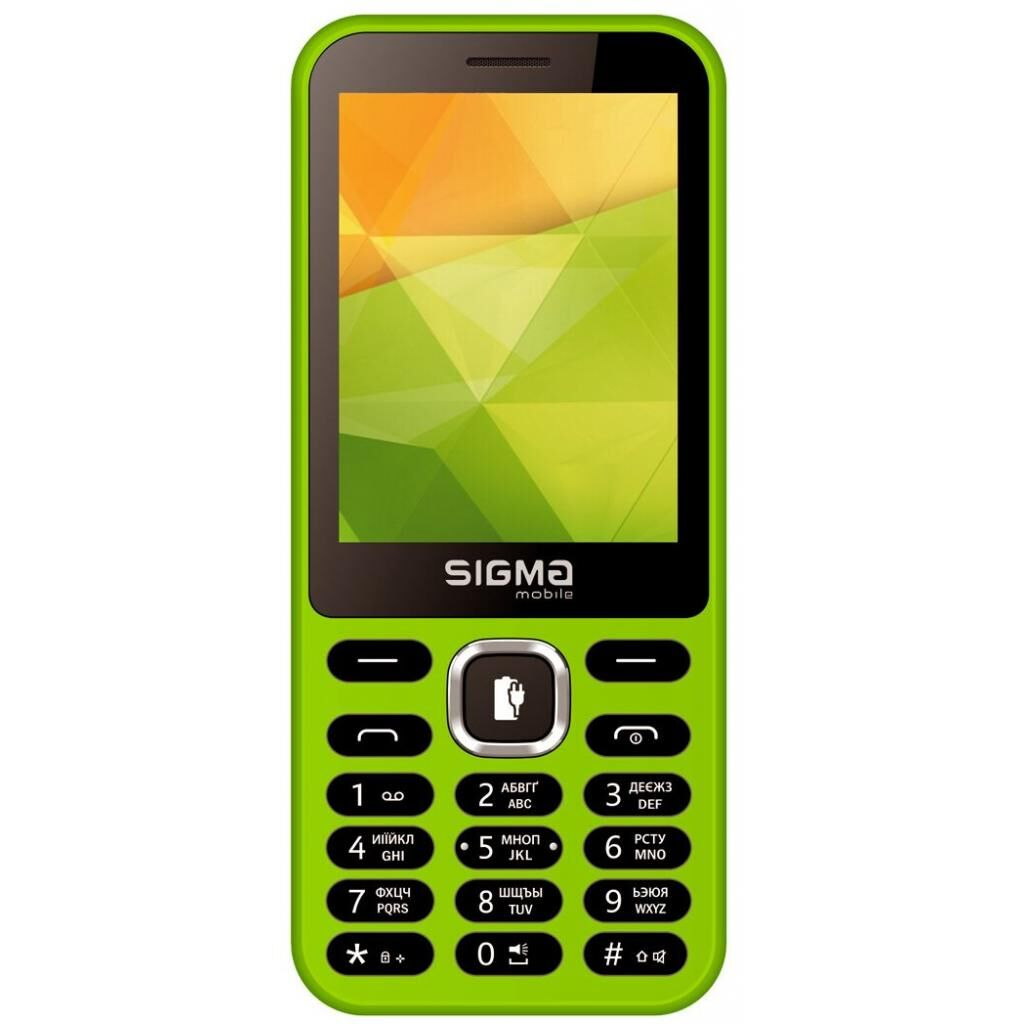 Мобильный телефон Sigma X-style 31 Power Green (4827798854785)