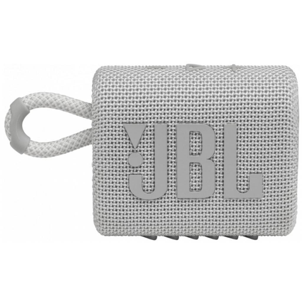 Акустическая система JBL Go 3 White (JBLGO3WHT)
