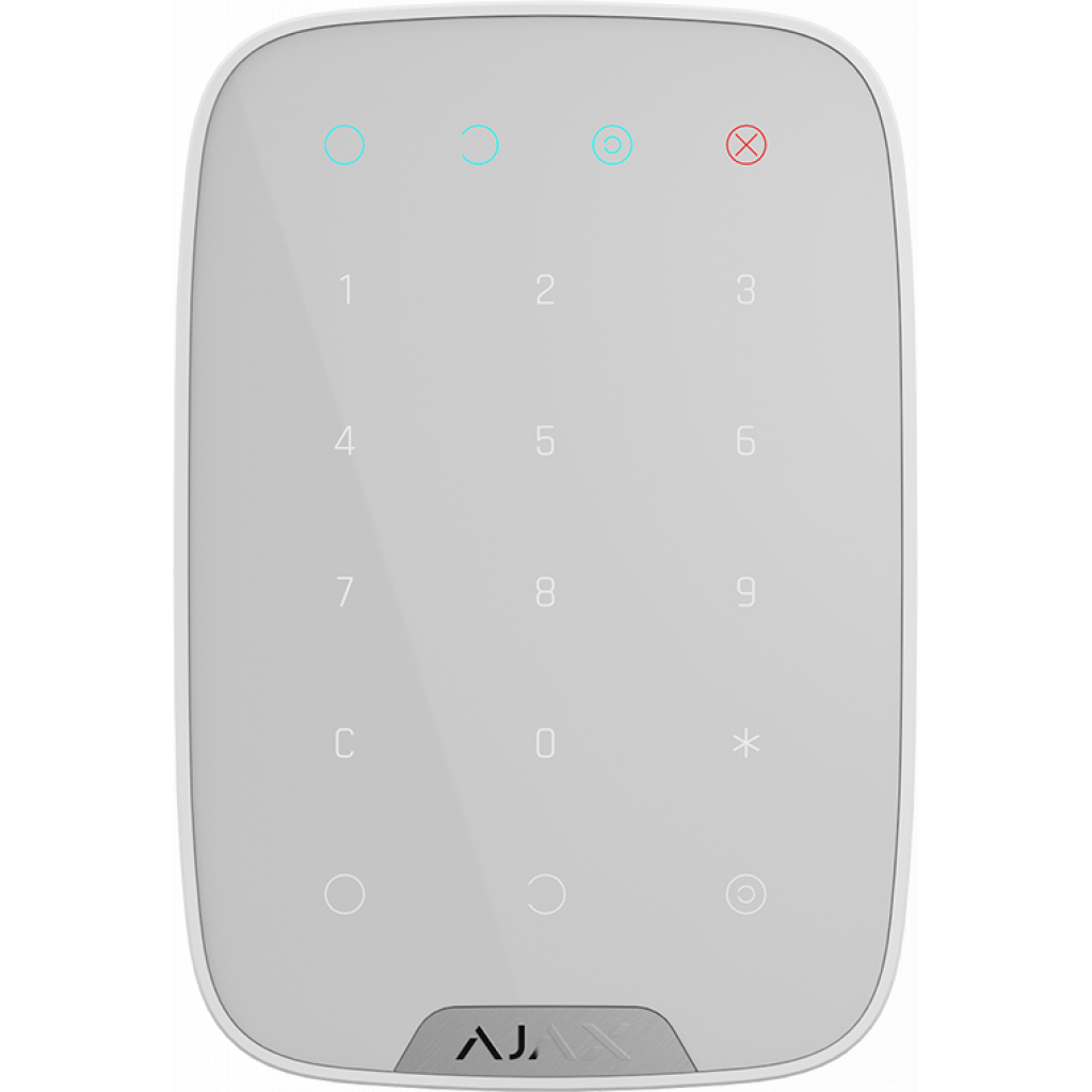Клавиатура к охранной системе Ajax KeyPad white (KeyPad /White)