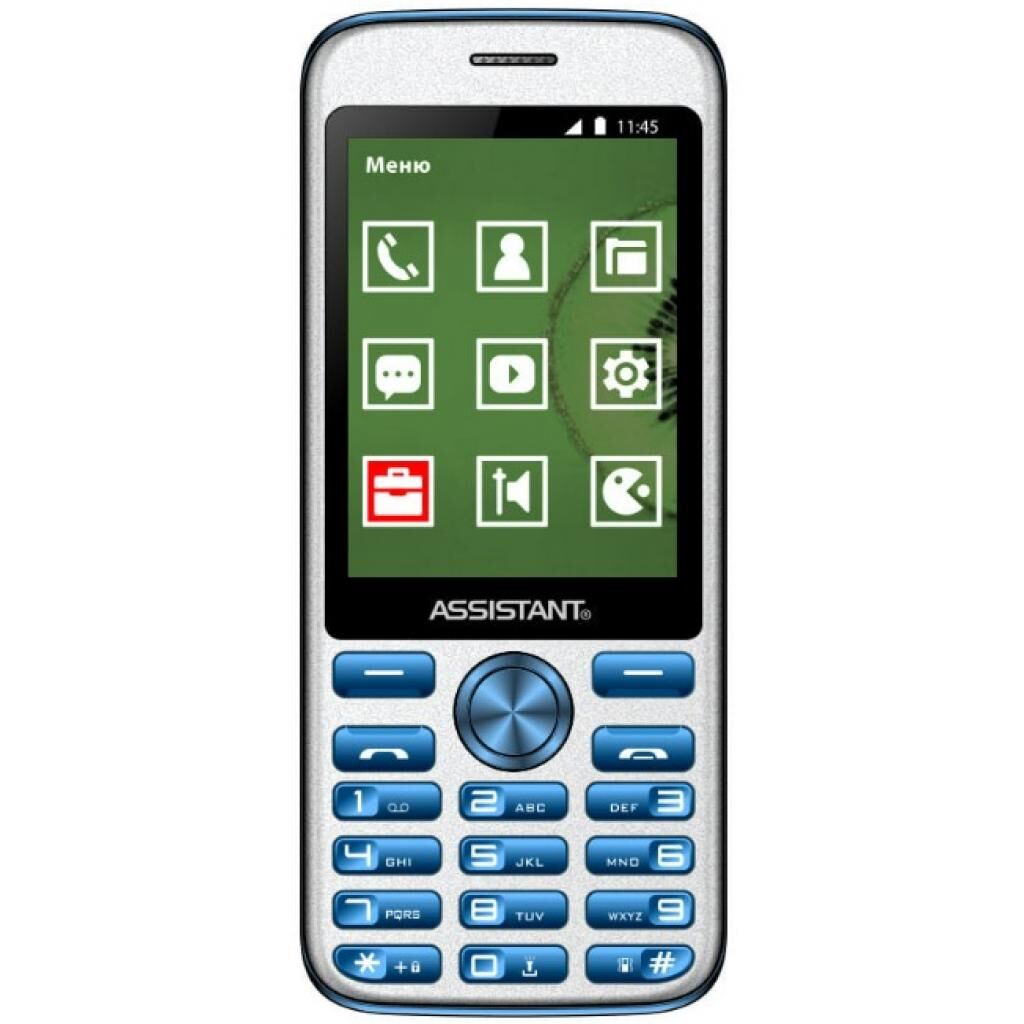 Мобильный телефон Assistant AS-204 Blue (873293012803)