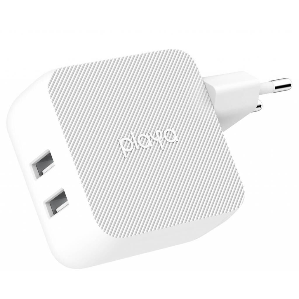Зарядное устройство Belkin Playa Home Charger 12W DUAL USB 2.4A, white (PP0007VFC2-PBB)