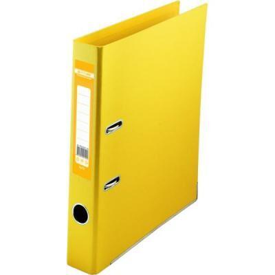 Папка - регистратор Buromax А4 double sided, 50мм, PP, yellow, built-up (BM.3002-08c)