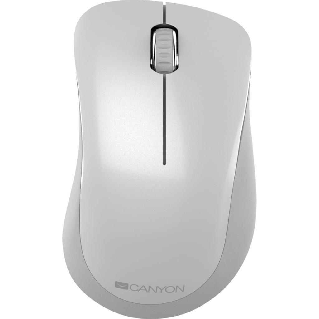 Мышка CANYON MW-11 Wireless Pixart White Grey (CNE-CMSW11PW)