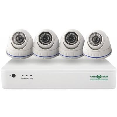 Комплект видеонаблюдения GreenVision GV-IP-K-S30/04 1080P (9419)