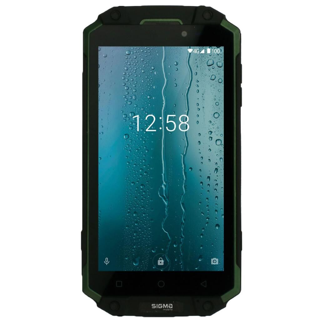 Мобильный телефон Sigma X-treme PQ39 ULTRA Black Green (4827798337240)