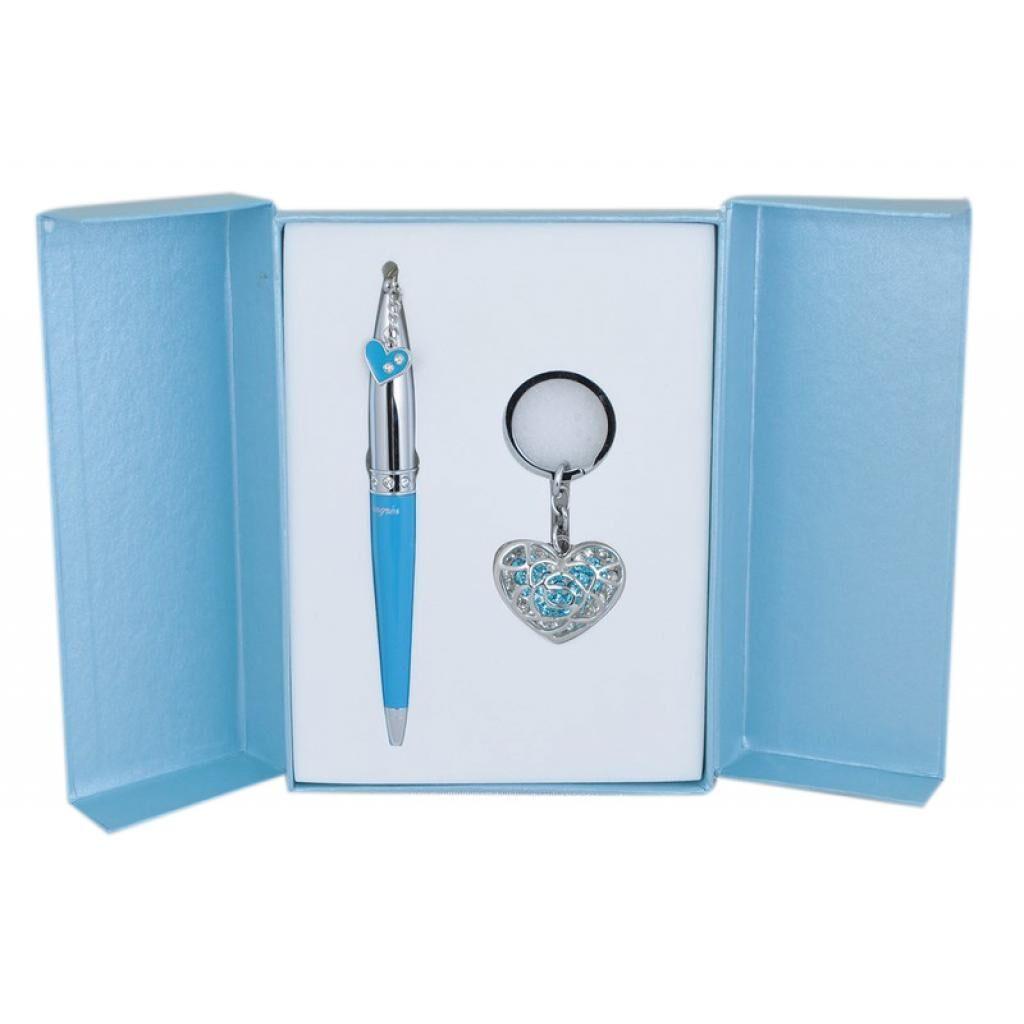 Ручка шариковая Langres набор ручка + брелок Miracle Синий (LS.122026-02)