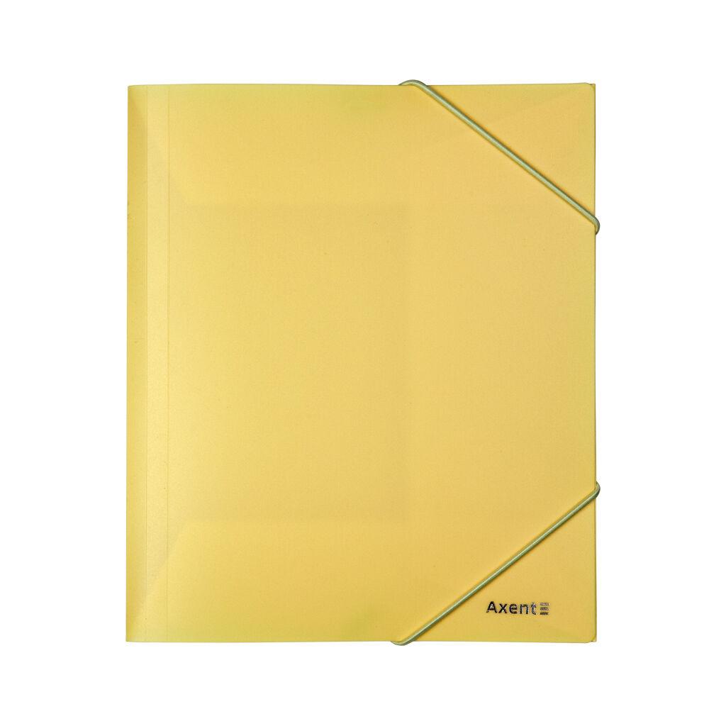 Папка на резинках Axent A5 410 мкм Pastelini yellow (1514-26-A)