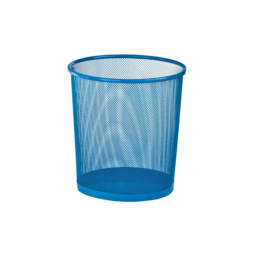 Корзина для бумаг ZiBi металлическая Круглая 10 л Синяя (ZB.3126-02)