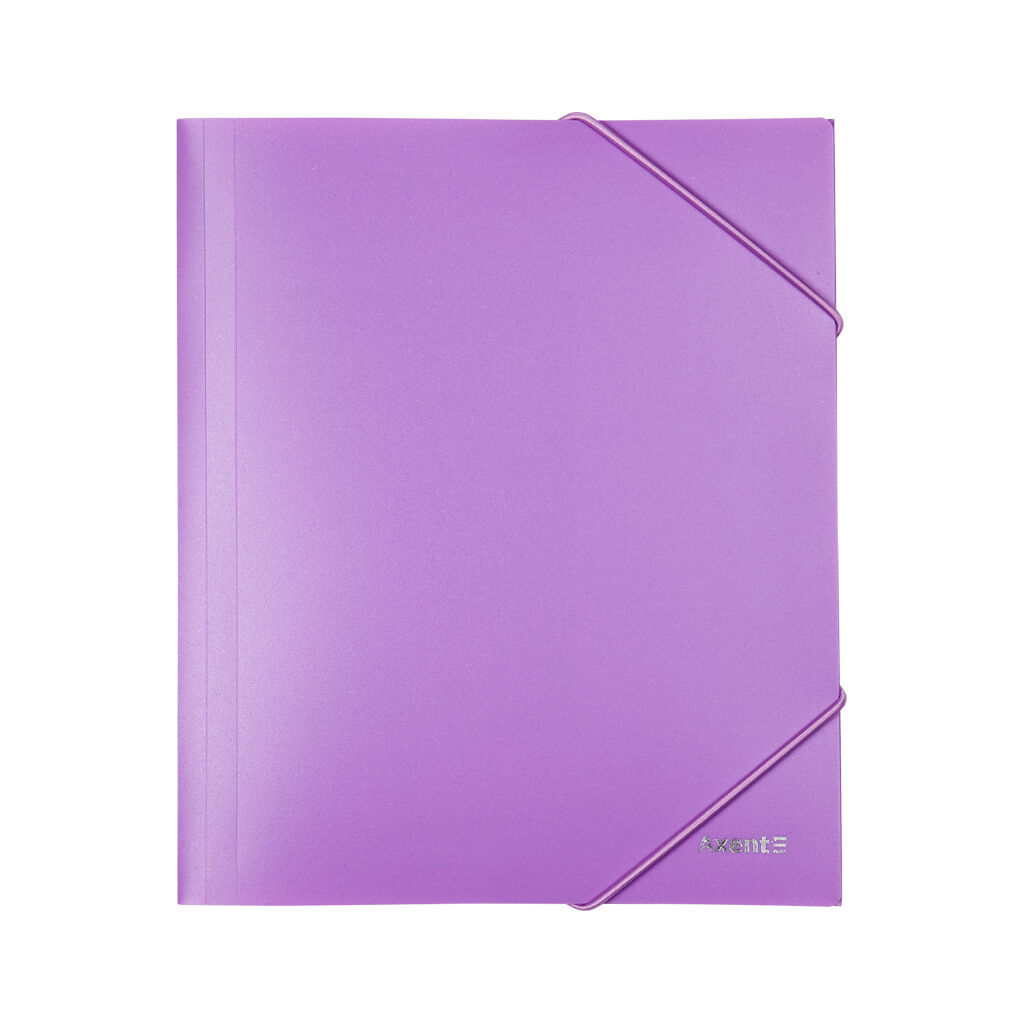 Папка на резинках Axent A5 410 мкм Pastelini lilac (1514-36-A)