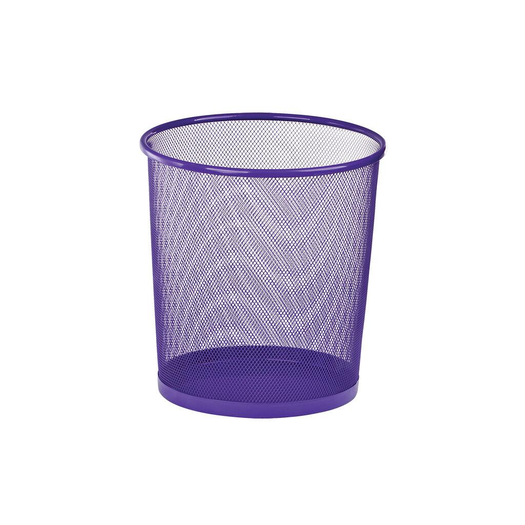 Корзина для бумаг ZiBi металлическая Круглая 10 л Фиолетовая (ZB.3126-07)