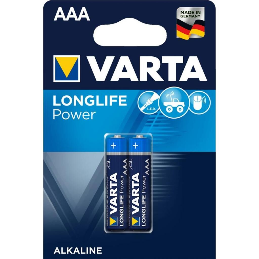 Батарейка Varta LONGLIFE Power Alkaline LR03 * 2 (04903121412)