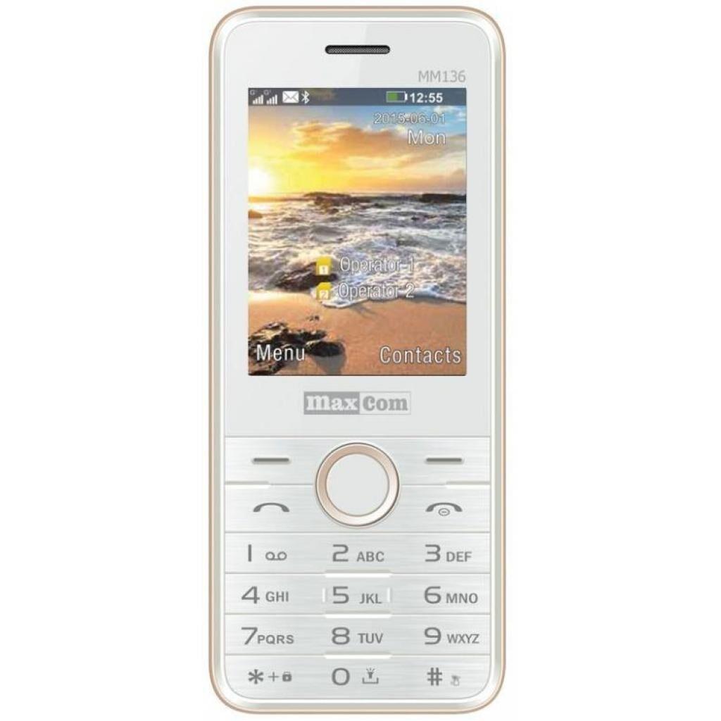 Мобильный телефон Maxcom MM136 White-Gold (5908235973500)