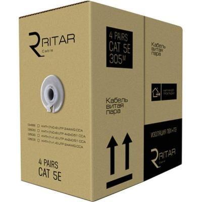 Кабель сетевой Ritar UTP 305м КНПп (4*2*0,51) [СCA] внешний, проволока (03502)