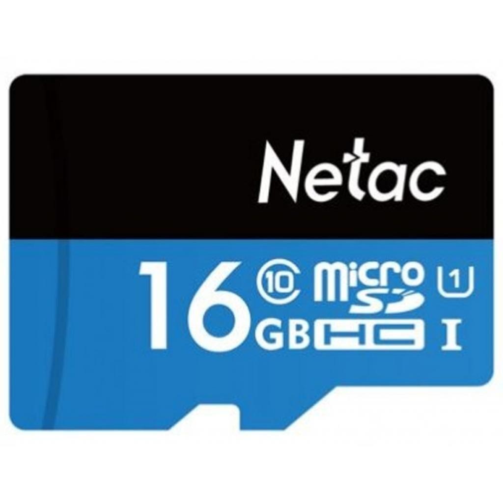 Карта памяти Netac 16GB microSD class 10 (NT02P500STN-016G-R)