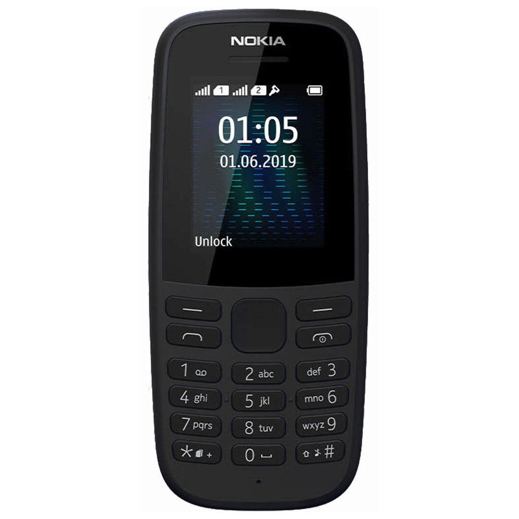 Мобильный телефон Nokia 105 SS 2019 (no charger) Black (16KIGB01A19)