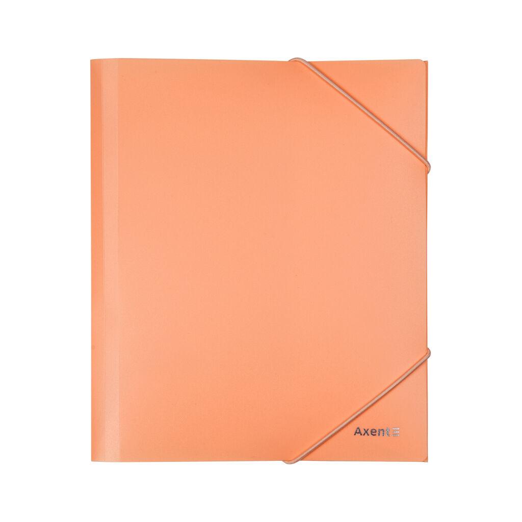 Папка на резинках Axent A5 410 мкм Pastelini peach (1514-42-A)