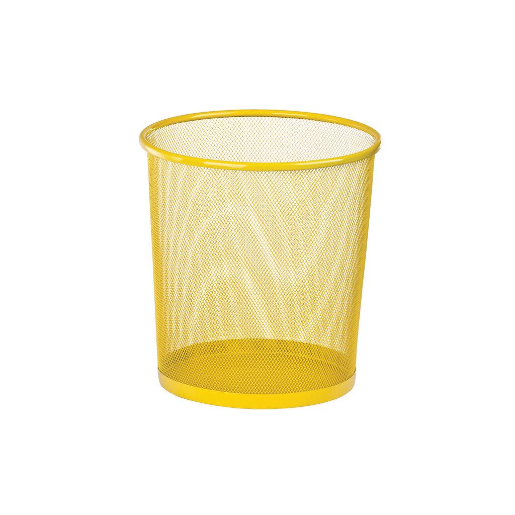 Корзина для бумаг ZiBi металлическая Круглая 10 л Желтая (ZB.3126-08)