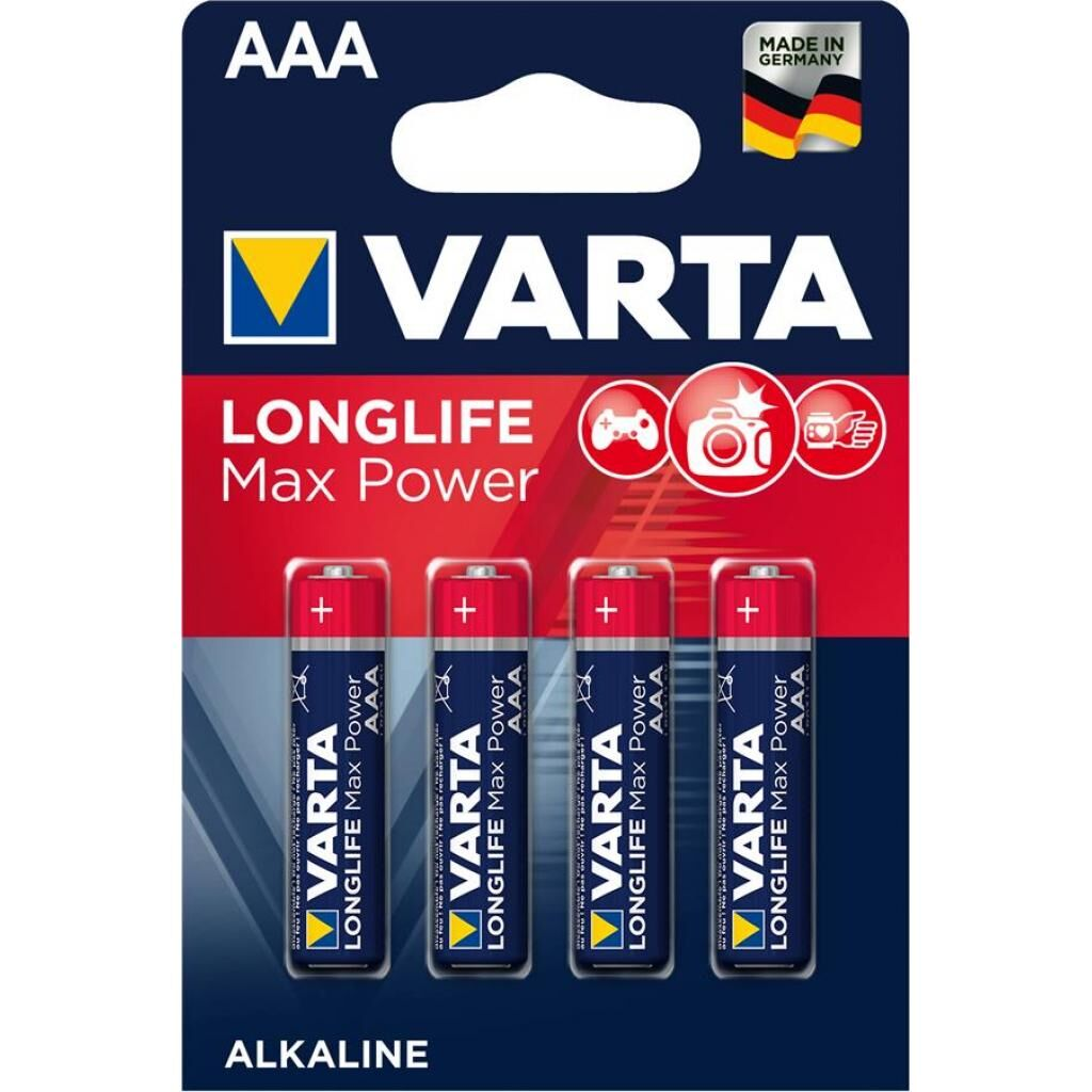 Батарейка Varta AAA LONGLIFE Max Power LR06 * 4 (04703101404)