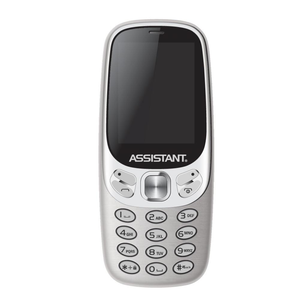 Мобильный телефон Assistant AS-203 Silver (873293012568)