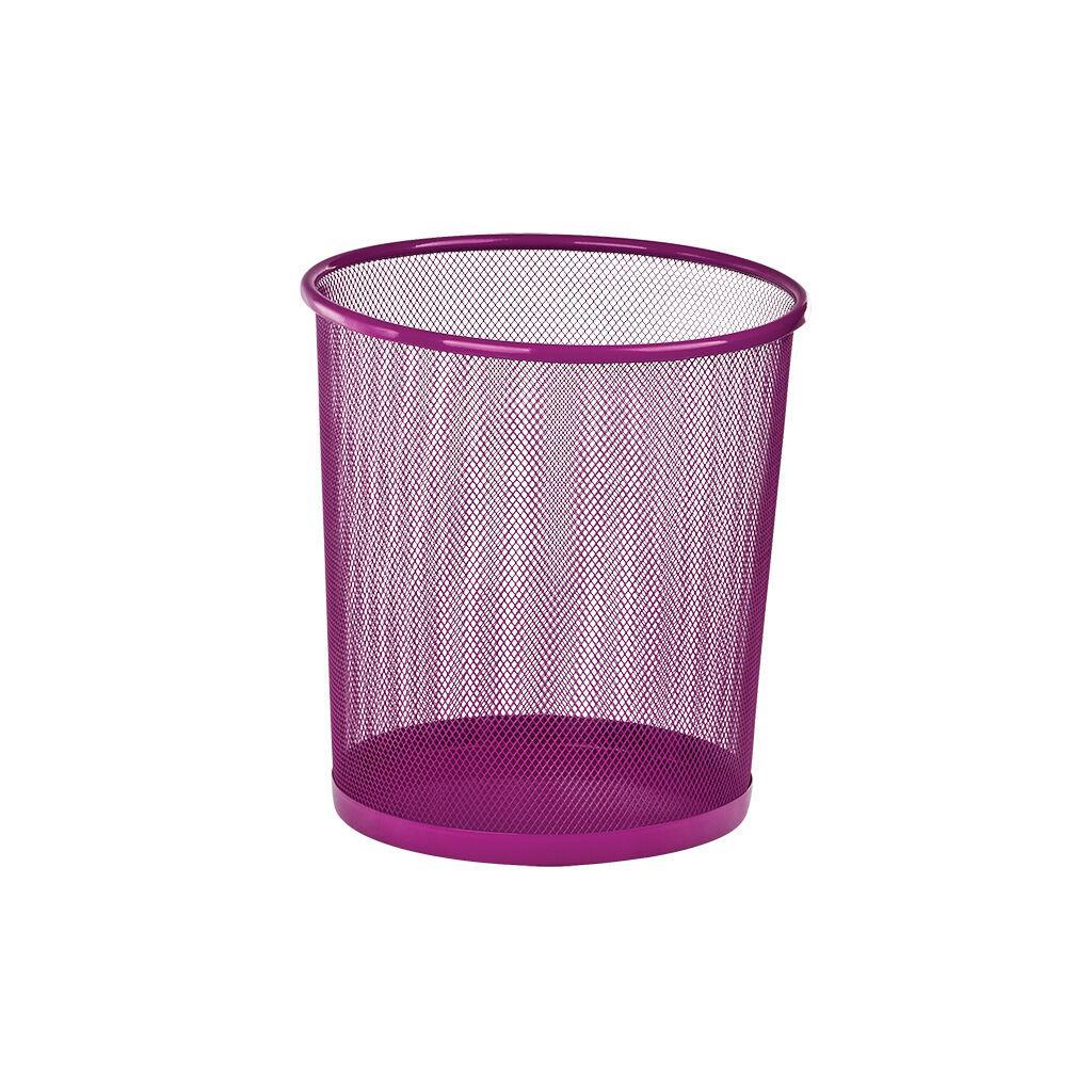 Корзина для бумаг ZiBi металлическая Круглая 10 л Розовая (ZB.3126-10)