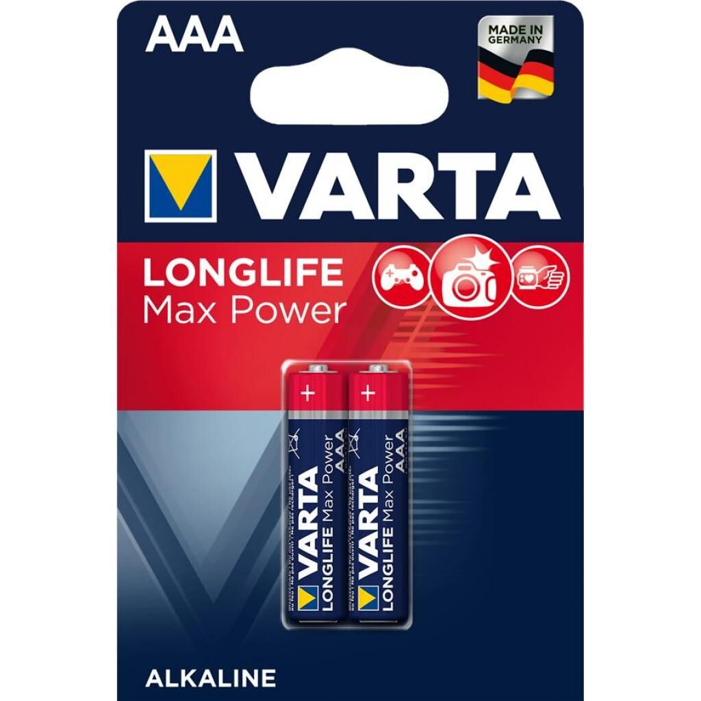 Батарейка Varta LONGLIFE Max Power LR03 * 2 (04703101412)