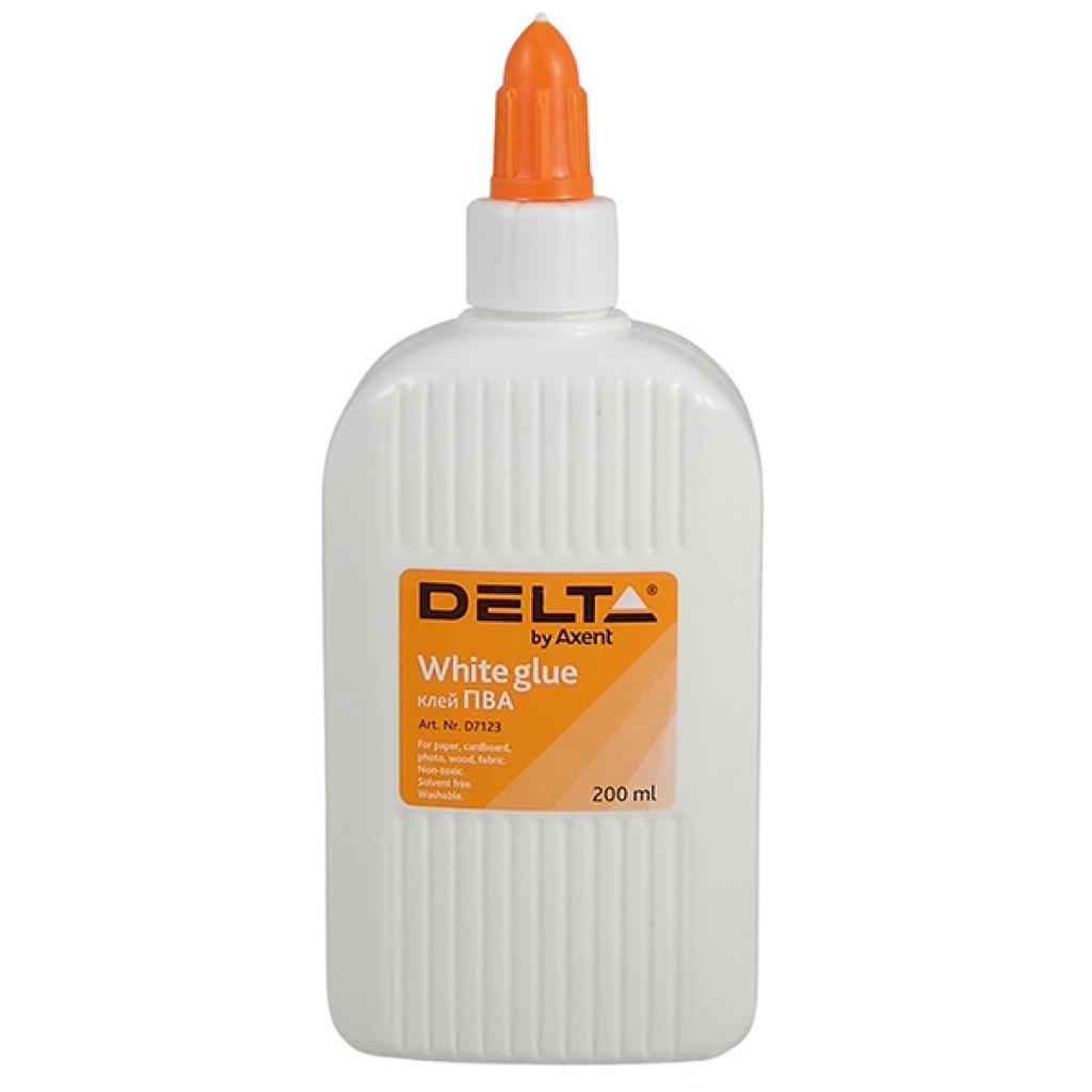 Клей Delta by Axent White glue, PVA, 200 мл, cap dispenser (D7123)