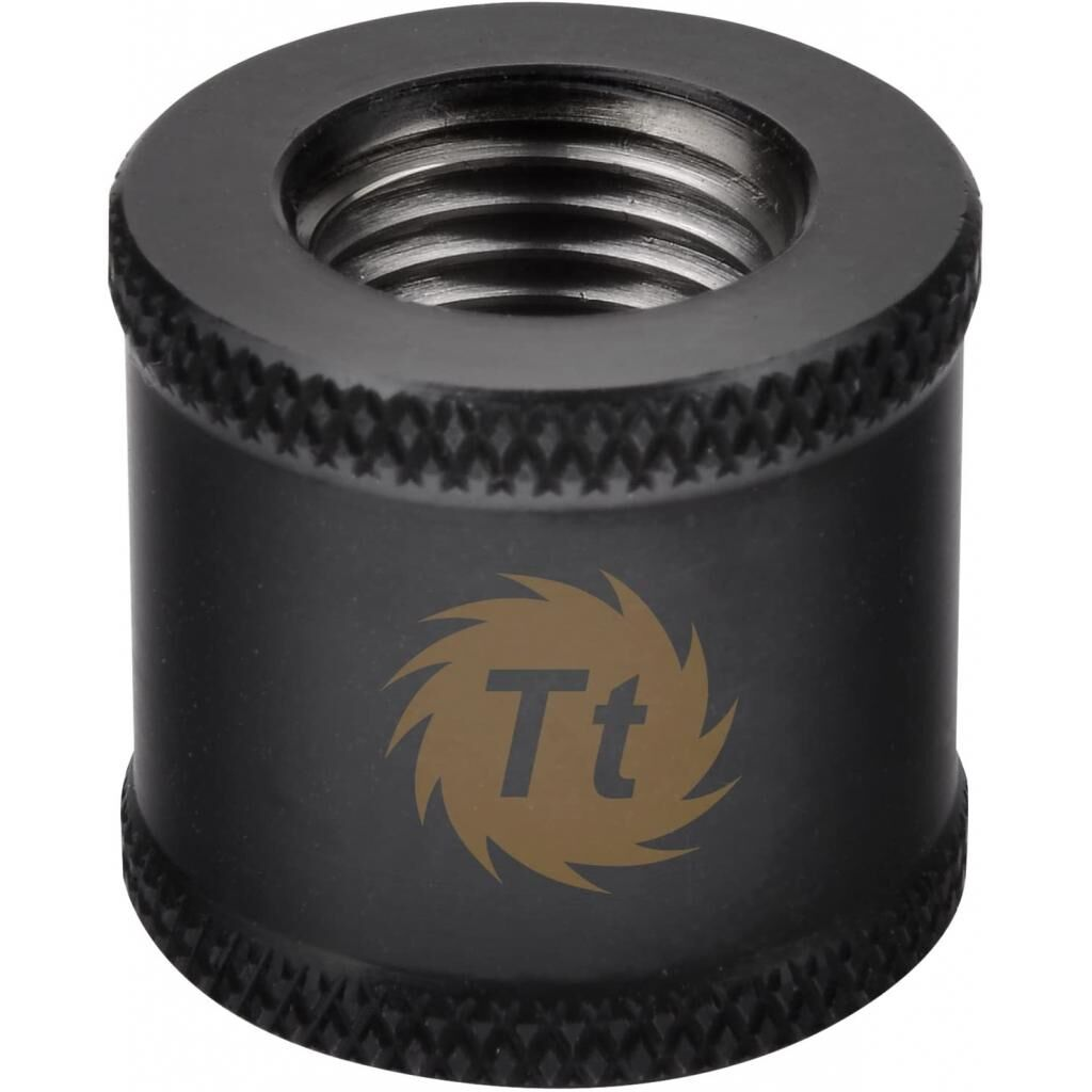 Фитинг для СВО ThermalTake Pacific G1/4 Female to Female 20mm Extender - Black (CL-W049-CU00BL-A)