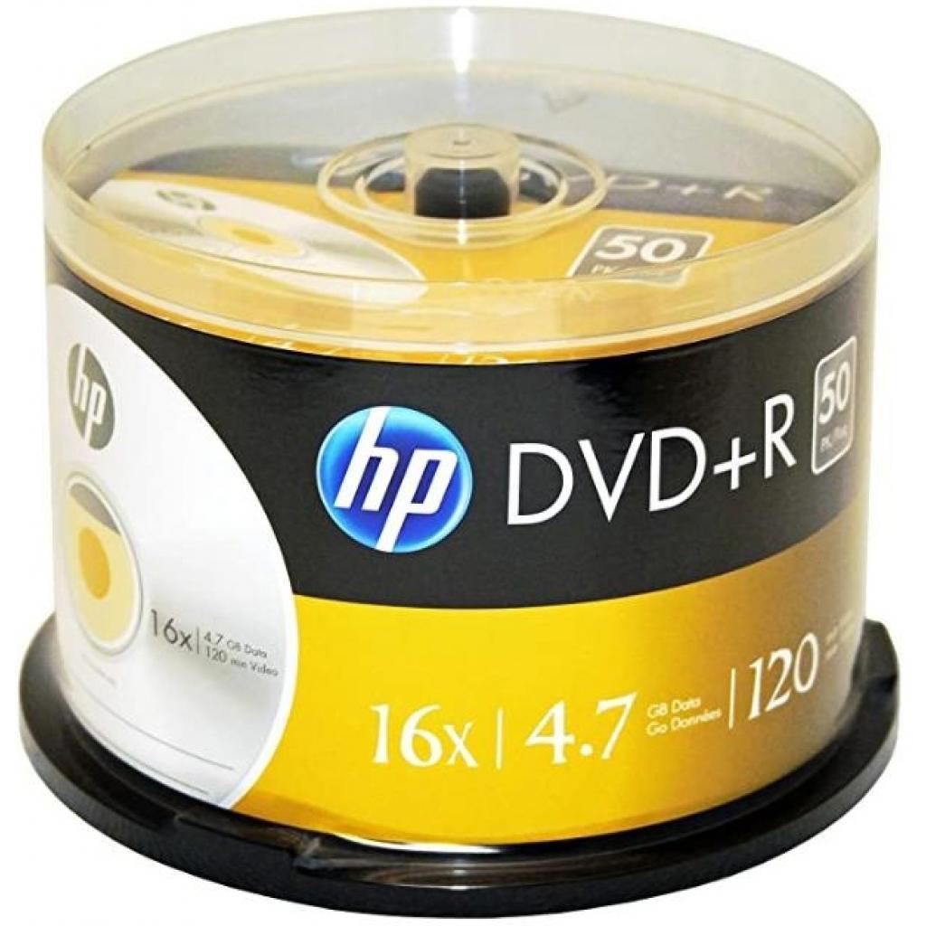 Диск DVD HP DVD+R 4.7GB 16X 50шт Spindle (69319/DRE00026-3)