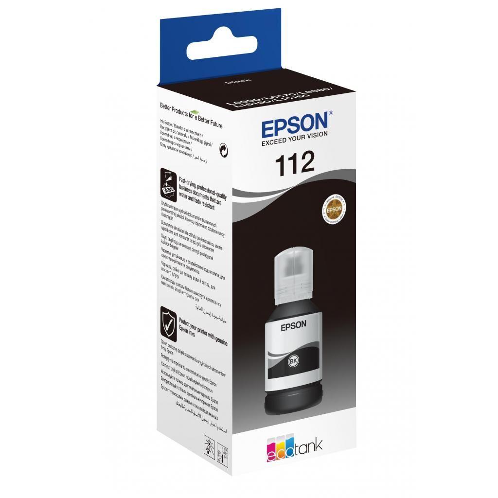 Контейнер с чернилами EPSON 112 EcoTank Pigment Black ink (C13T06C14A)
