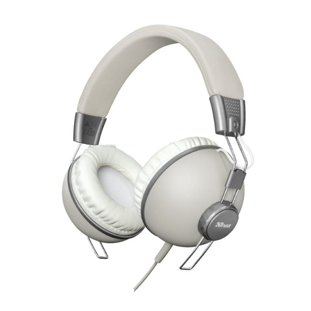 Наушники Trust Noma Over-Ear Mic Retro Ivory (22636)