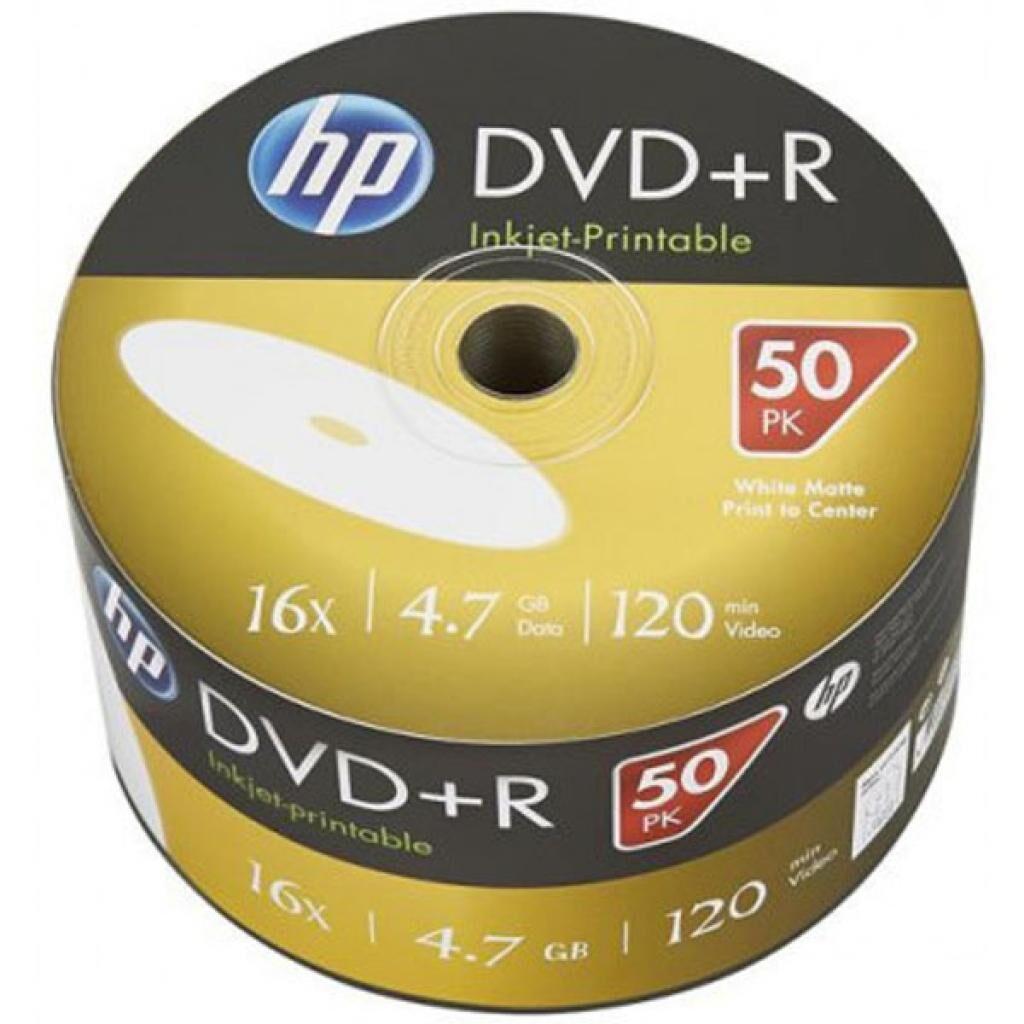 Диск DVD HP DVD+R 4.7GB 16X IJ PRINT 50шт (69304/DRE00070WIP-3)