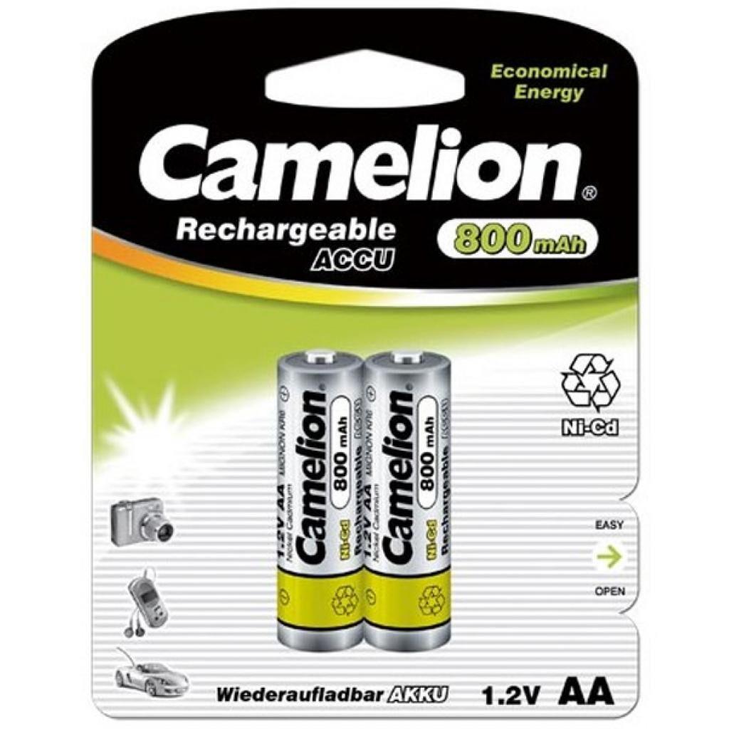 Аккумулятор Camelion AA 800mAh Ni-Cd * 2 R6-2BL (NC-AA800BP2)