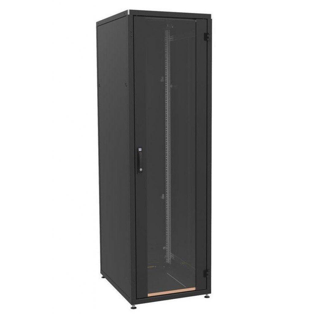 Шкаф напольный Zpas 33U, 600x800, glass door, black (IT-336080-69AA-2-161-FP)