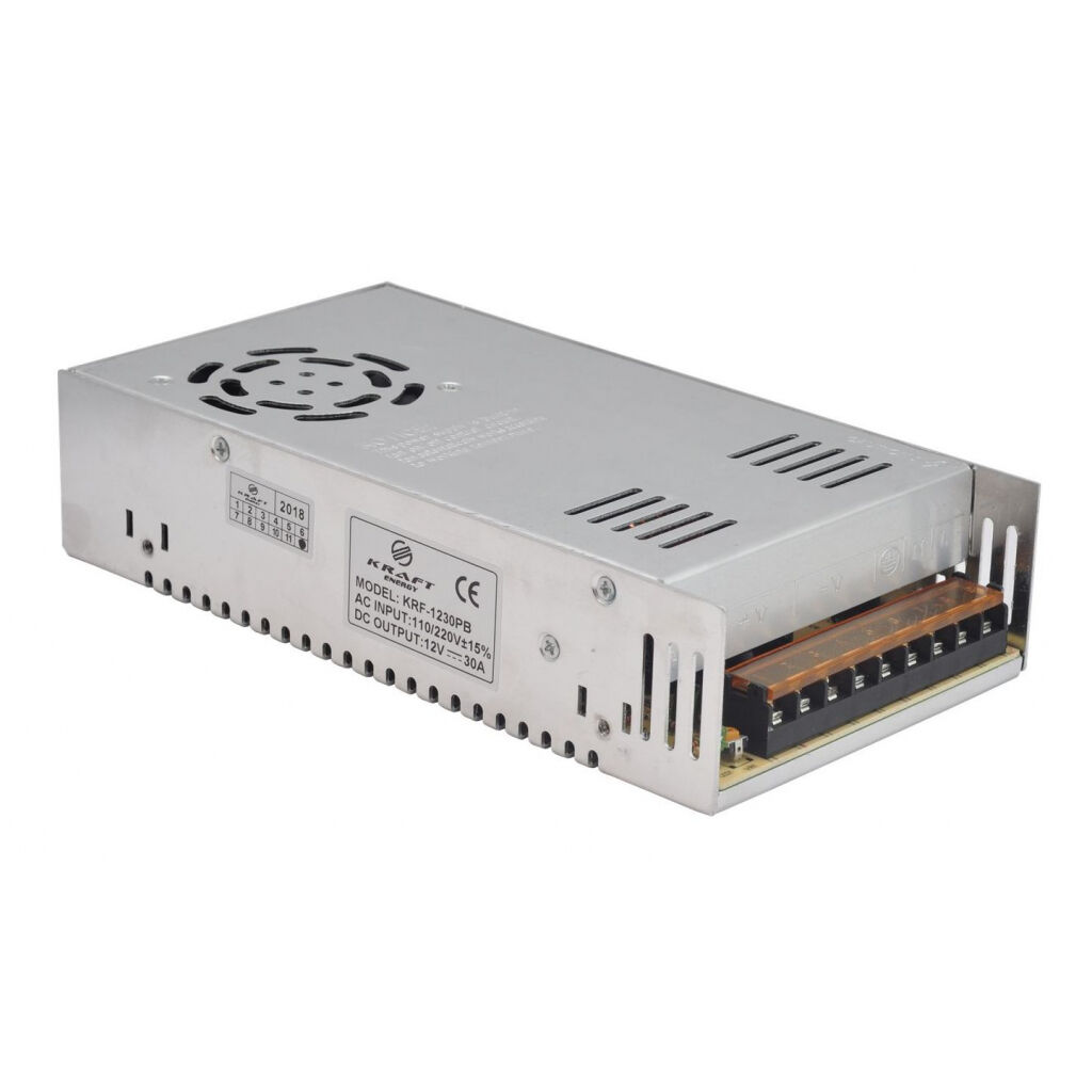 Блок питания для систем видеонаблюдения Kraft Energy KRF-1230PB