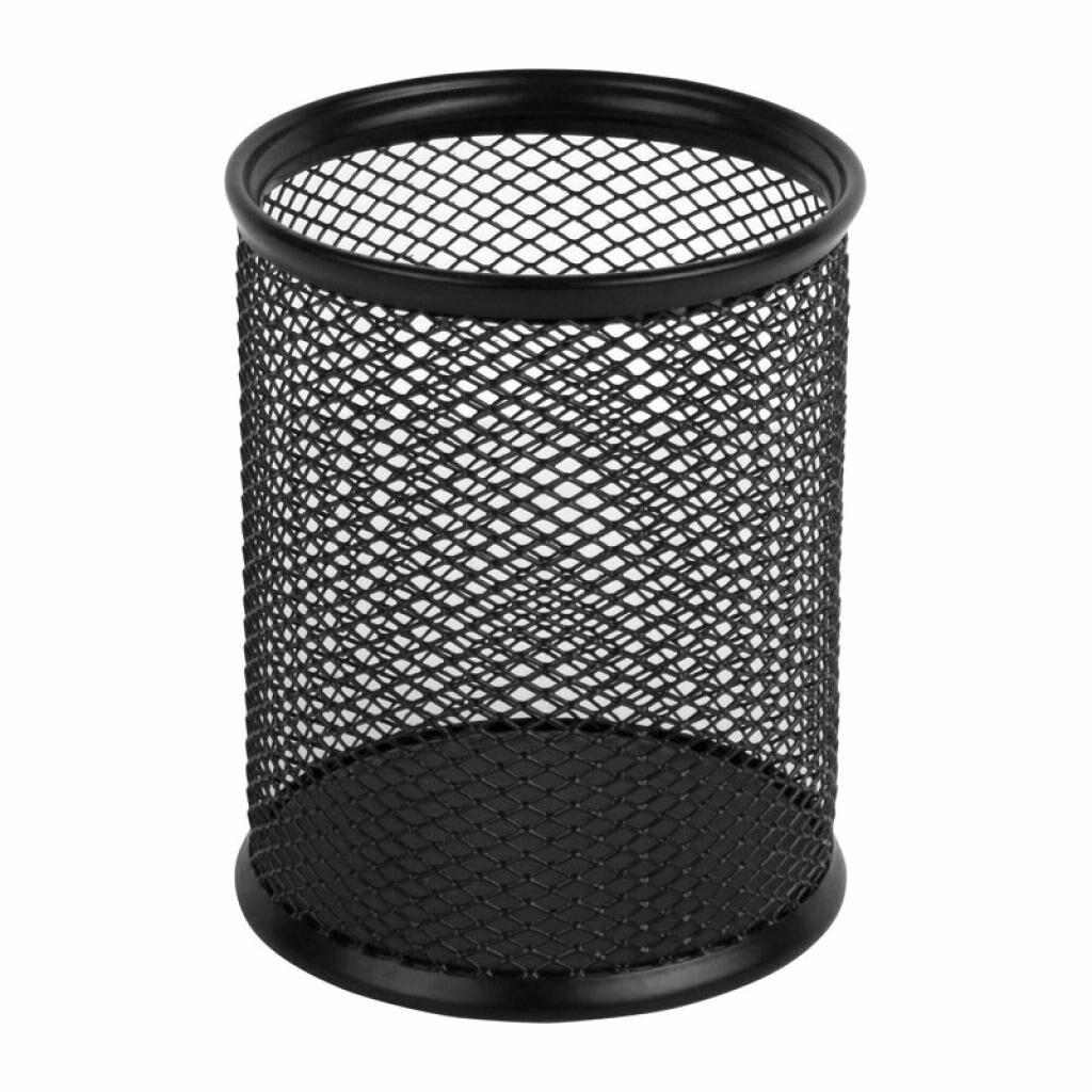 Подставка для ручек Axent round 80х80х100мм, wire mesh, black (2110-01-A)