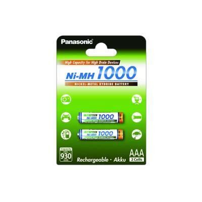 Аккумулятор PANASONIC High Capacity AAA 1000 mAh NI-MH * 2 (BK-4HGAE/2BE)
