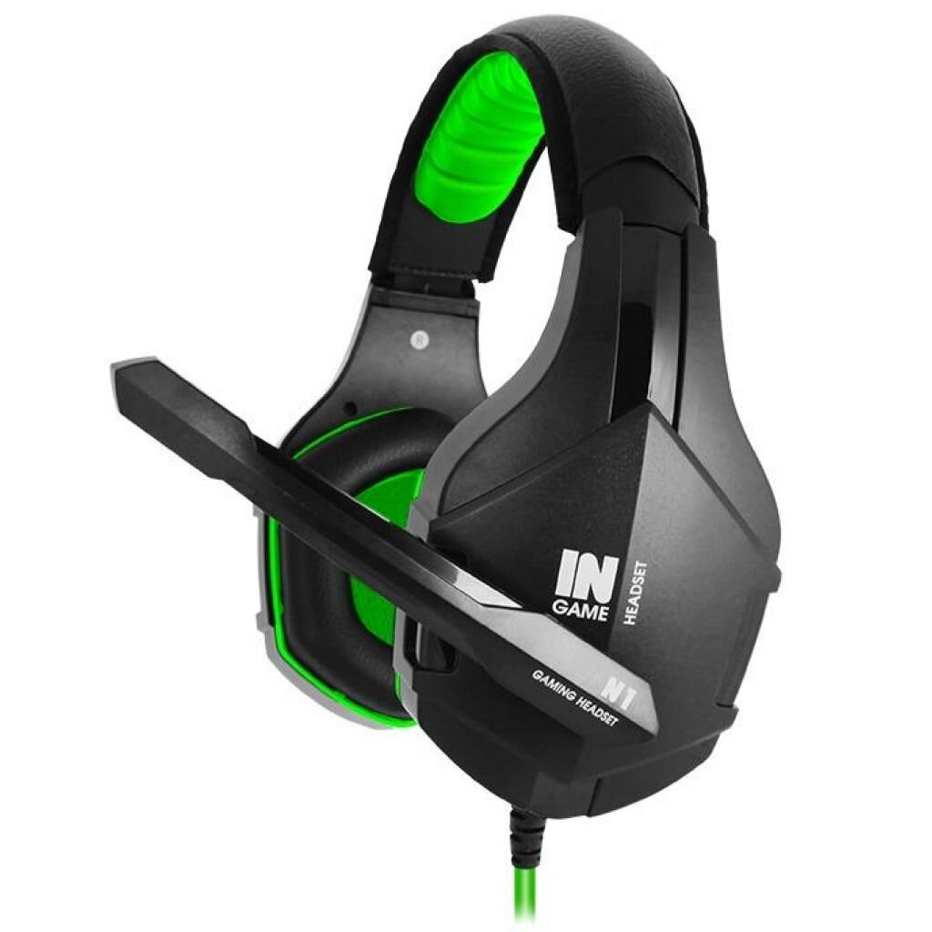 Наушники GEMIX N1 Black-Green Gaming