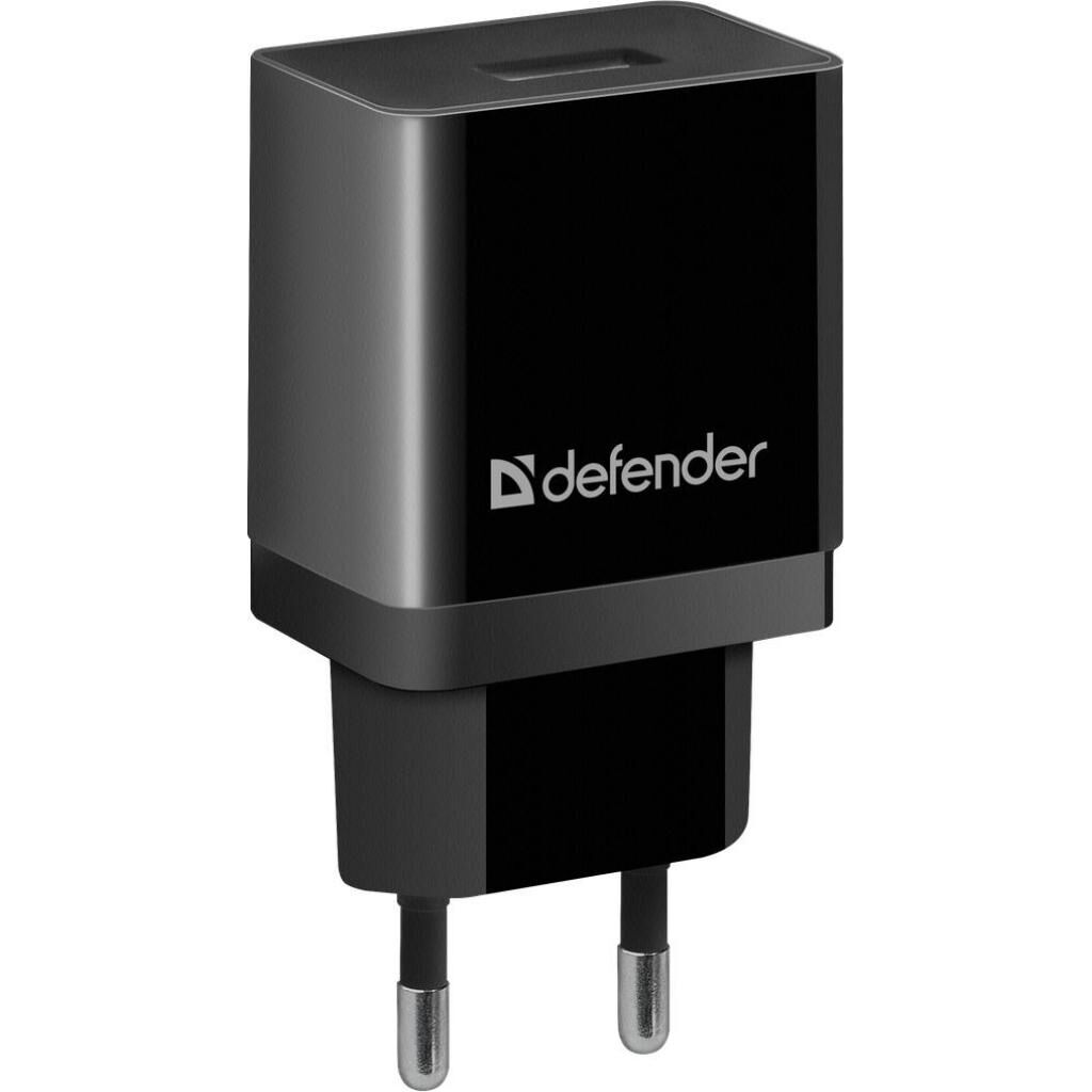 Зарядное устройство Defender UPA-21 black, 1xUSB, 5V / 2.1A (83577)