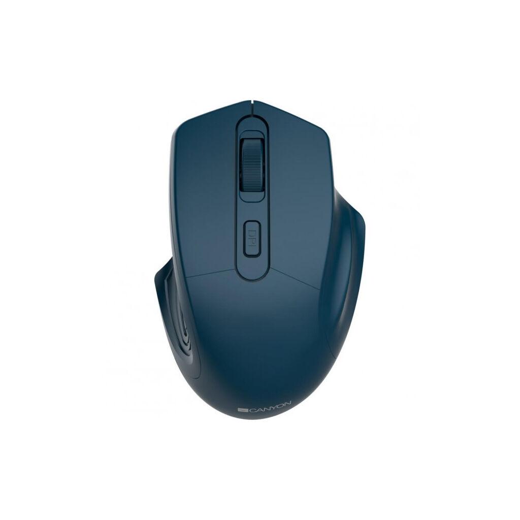 Мышка CANYON MW-15 Wireless Dark Blue (CNE-CMSW15DB)