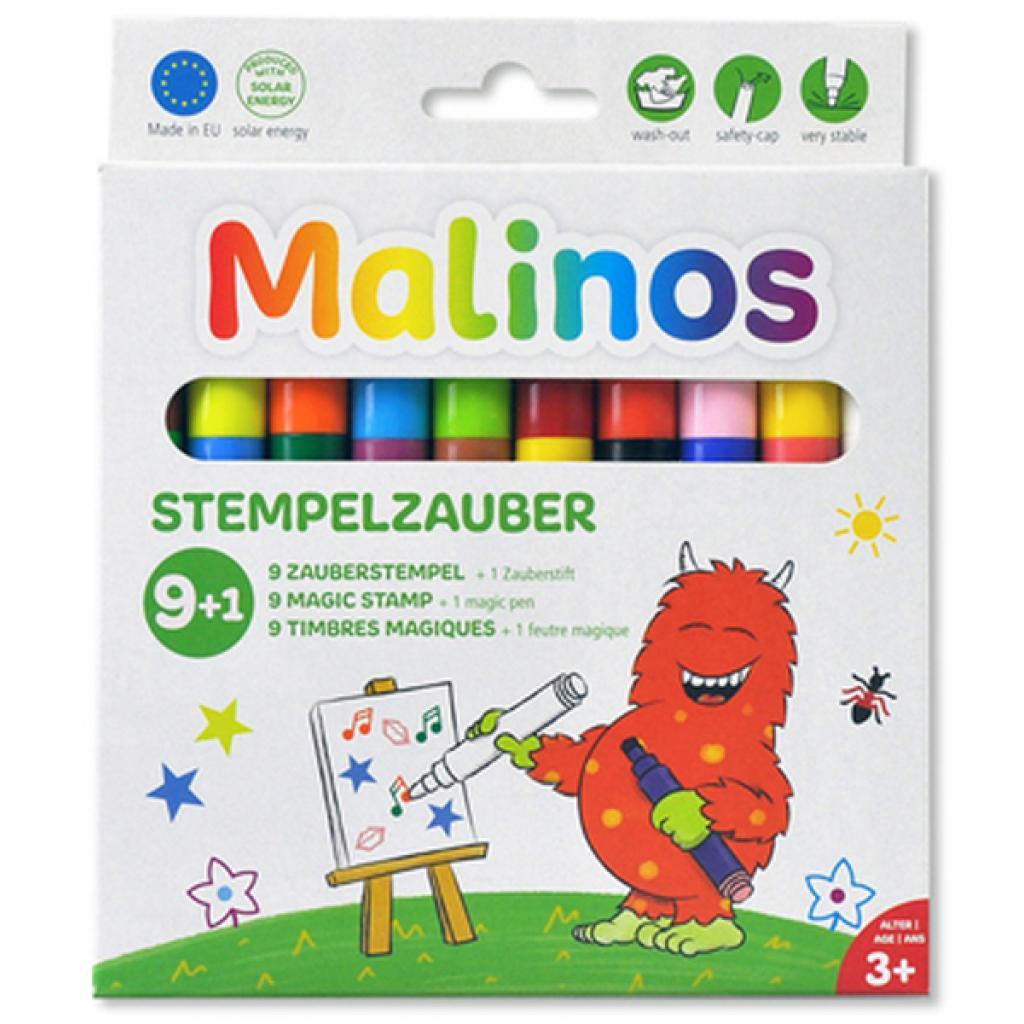Фломастеры MALINOS штампы волшебные меняющие цвет Stempelzauber 9 (9+1) шт (MA-300008)
